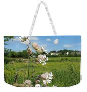 Bladder Campion On Stone Wall Weekender Tote Bag