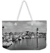 Black And White Oceanside California Marina  Weekender Tote Bag