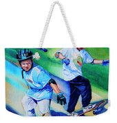 Blasting Boarders Weekender Tote Bag by Hanne Lore Koehler