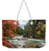 Blazing Red Mountain Maple, Greys River Weekender Tote Bag