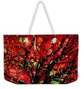 Blazing Red Orange Autumn Tree Weekender Tote Bag