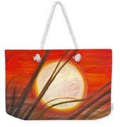 Blazing Sun And Wind-blown Grasses Weekender Tote Bag