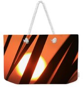 Blazing Sunset And Grasses Weekender Tote Bag