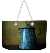 Blue Enamelware Coffee Pot Weekender Tote Bag