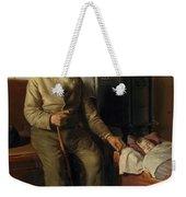 Blind Kristian Minding A Child Weekender Tote Bag