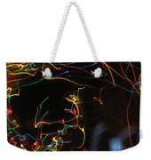 Blizzard Of Colorful Lights. Dancing Lights Series Weekender Tote Bag