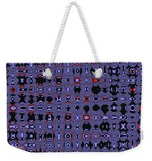 Bllue And Black Abstract #4 Weekender Tote Bag
