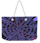 Blue Black Red Abstract Weekender Tote Bag
