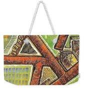 Acrylic Block Art Weekender Tote Bag