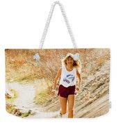 Blond Woman Trail Runner Weekender Tote Bag