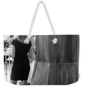 Blonde Waiting For Taxi Weekender Tote Bag
