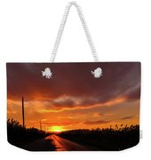 Blood And Gold In The Road Sunset At Portmahon Delaware Weekender Tote Bag