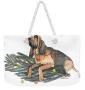 Blood Hound Christmas Weekender Tote Bag
