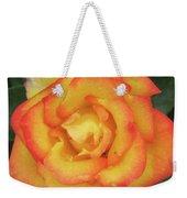 Blood Orange Rose Weekender Tote Bag
