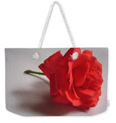 Blood Red Rose Weekender Tote Bag