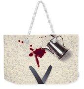 Bloody Dining Table Weekender Tote Bag by Joana Kruse