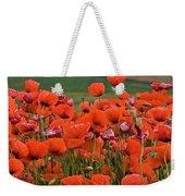 Bloom Red Poppy Field Weekender Tote Bag