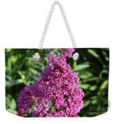 Blooming Brilliant Pink Phlox Flowers In A Garden Weekender Tote Bag