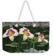 Blooming By The Pond Weekender Tote Bag
