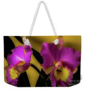 Blooming Cattleya Orchids Weekender Tote Bag