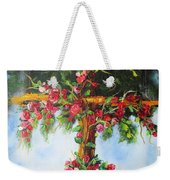 Blooming Cross Weekender Tote Bag