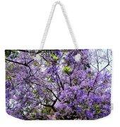 Blooming Tree With Purple Flowers Weekender Tote Bag