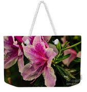 Blooming Wet Weekender Tote Bag