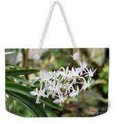 Blooming White Flower Spike Weekender Tote Bag
