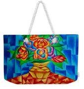 Blooms In Blue Weekender Tote Bag
