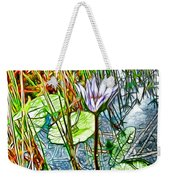 Blossom Lotus Flower In Pond Weekender Tote Bag