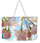 Blossoms Art Prints 52 Pink Tree Blossoms Nature Art Blue Sky Weekender Tote Bag