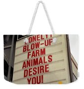 Blowup Farm Animals Sign Weekender Tote Bag