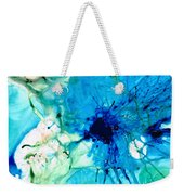 Blue Abstract Art - A Calm Energy - By Sharon Cummings Weekender Tote Bag