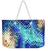 Blue Abstract Art - Pieces 2 - Sharon Cummings Weekender Tote Bag