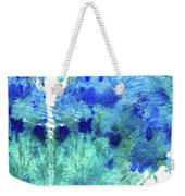 Blue And Aqua Abstract - Wishing Well - Sharon Cummings Weekender Tote Bag