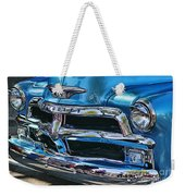 Blue And Chrome Chevy Pickup Front End Weekender Tote Bag