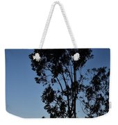 Blue And Gold Sunset Tree Silhouette I Weekender Tote Bag