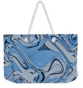 Blue And Gray Weekender Tote Bag