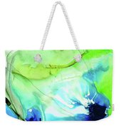 Blue And Green Abstract - Land And Sea - Sharon Cummings Weekender Tote Bag