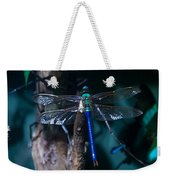 Blue And Green Dragonfly Weekender Tote Bag
