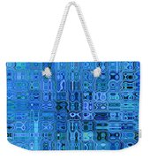 Blue And Green Quilt Weekender Tote Bag