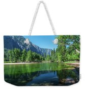 Blue And Green River Weekender Tote Bag