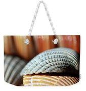 Blue And Orange Seashells Weekender Tote Bag