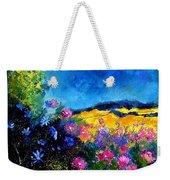 Blue And Pink Flowers Weekender Tote Bag