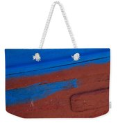 Blue And Red Abstract Weekender Tote Bag