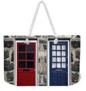 Blue And Red Doors Weekender Tote Bag