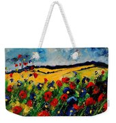 Blue And Red Poppies 45 Weekender Tote Bag
