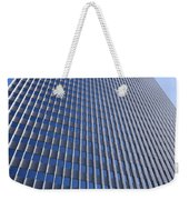 Blue And Silver Weekender Tote Bag