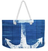 Blue And White Anchor- Art By Linda Woods Weekender Tote Bag by Linda Woods