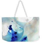 Blue And White Art - A Short Wave - Sharon Cummings Weekender Tote Bag